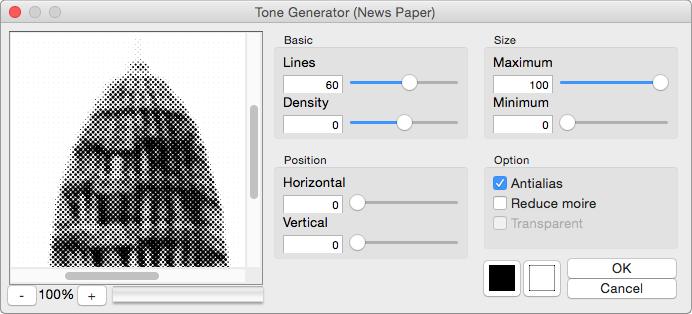 TNKソフトウェア - Photoshop Tone Generator